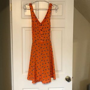 Lush orange mini dress M